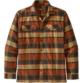 Patagonia Fjord LS Flannel Shirt Men plots/burnished red